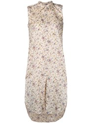Mes Demoiselles Sleeveless Floral Shirt Neutrals