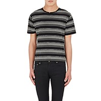 Saint Laurent Men's Skeleton Print Jersey T Shirt No Color