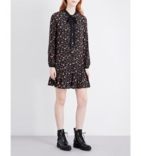 Mcq By Alexander Mcqueen Pussybow Printed Silk Dress Vintage Floral