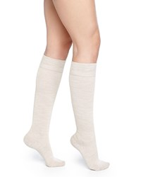 Falke Wool Blend Knee High Socks Linen Melange