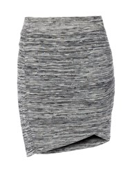Red Soul Tulip Textured Skirt Storm Grey