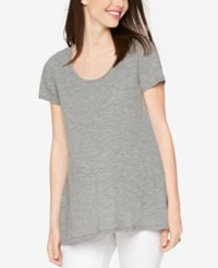 A Pea In The Pod Maternity High Low Tee Heather Grey