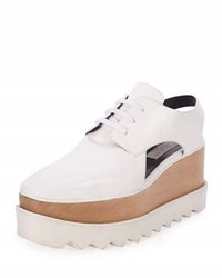 Stella Mccartney Elyse Cutout Platform Oxford White