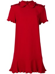 Red Valentino Structured Dress Women Acetate Viscose 44