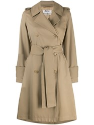 Acne Studios Belted Trench Coat Neutrals