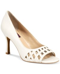 Mojo Moxy Charli Peep Toe Pumps Women's Shoes White