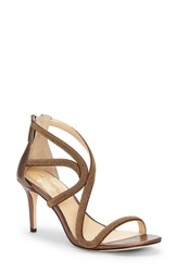 Imagine Vince Camuto Petara Strappy Sandal Bronze Leather