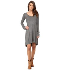 Stetson 0759 Rayon Knit V Neck T Shirt Dress Grey Women's Dress Gray