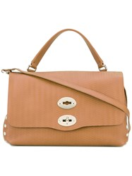 Zanellato Double Lock Satchel Brown