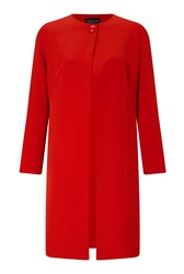 James Lakeland One Button Crepe Coat Red