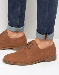 New Look Derby Shoes In Brown Mid Brown