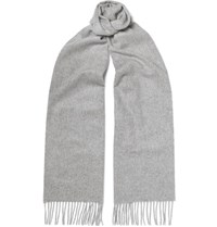 Johnstons Of Elgin Cashmere Scarf Gray