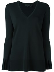 Theory V Neck Sweater Black