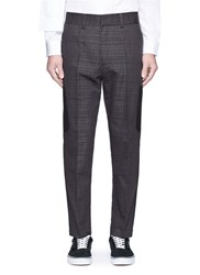 The World Is Your Oyster Check Plaid Elastic Back Pants Grey