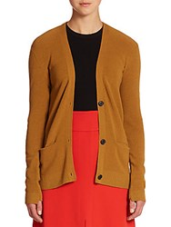 A.L.C. Phillip Ribbed Cardigan Sweater Toffee