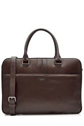 Tod's Tods Leather Briefcase Brown