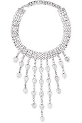 Alessandra Rich Silver Tone Crystal Choker One Size