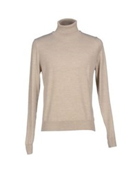 Vneck Turtlenecks Beige