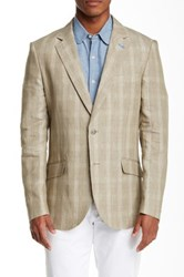 Tailorbyrd 1 2 Lined Notch Lapel Sports Jacket Beige