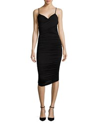 Bailey 44 Cumbia Ruched Bodycon Dress Black