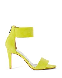 Karen Millen Suede Ankle Cuff High Heel Sandals Lime