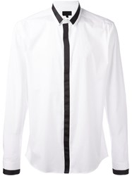 Les Hommes Hidden Button Placket Shirt White