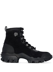 Moncler Lace Up Hiking Boots Black