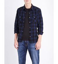 Nudie Jeans Jonis Cotton Shirt Black Indigo