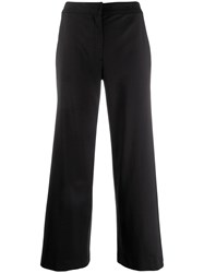 Christian Dior Vintage Cropped Wide Leg Trousers Black