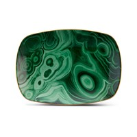 L'objet Malachite Rectangle Tray Medium