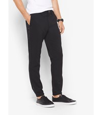Stretch Tuxedo Track Pants Black