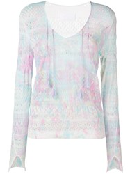 Zadig And Voltaire Paint Splash Effect Jumper White