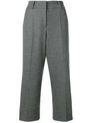 Cambio Wide Leg Cropped Trousers Grey