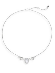 Judith Jack Marcasite Mother Of Pearl White Stone And Sterling Silver Necklace