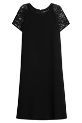 Etro Dress With Wool And Lace Black