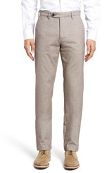 Ted Baker Men's London Volvek Classic Fit Trousers Natural