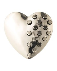 Alexis Bittar Domed Heart Grater Pin Gold
