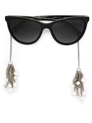 Chanel 'Pearl' Sunglasses Black
