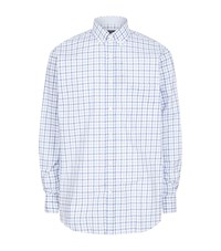 Paul And Shark Large Tattersall Check Shirt Male Blue