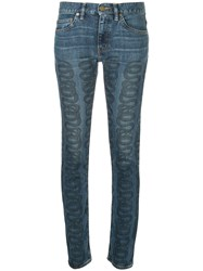 Hysteric Glamour Swirl Print Jeans Blue