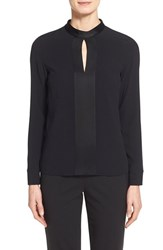 Women's Boss 'Ismeta' Stand Collar Blouse Black