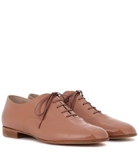 Gianvito Rossi Exclusive To Mytheresa.Com Patent Leather Derby Shoes Brown
