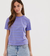 Quiksilver Acid Stripes T Shirt In Purple
