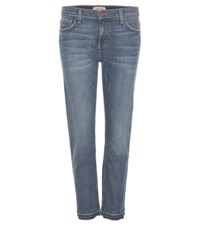 Current Elliott Cropped Straight Leg Jeans Blue