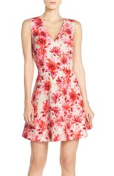 Women's Felicity And Coco Back Cutout Fit And Flare Dress Tropical Border