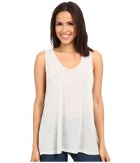 Alternative Apparel Melange Jersey Cut Off Tank Top Oatmeal Heather Women's Sleeveless Beige