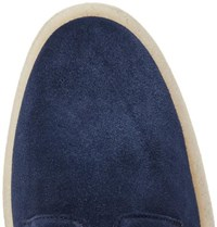 Common Projects Cadet Suede Derby Shoes Navy