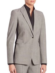 Akris Punto Glen Plaid Tuxedo Stripe Blazer Grey