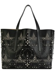 Jimmy Choo Pimlico Studded Tote Men Calf Leather Metal One Size Black