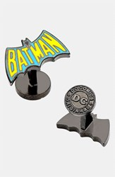 Ravi Ratan Men's Cufflinks Inc. 'Vintage Batman Logo' Cuff Links Yellow Aqua